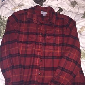 Women's red flannel size Large Carhartt